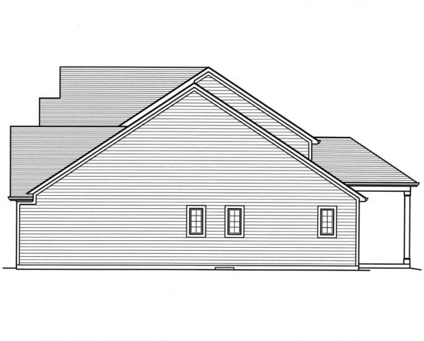 Traditional House Plan - The Montpillier 24264 - Right Exterior