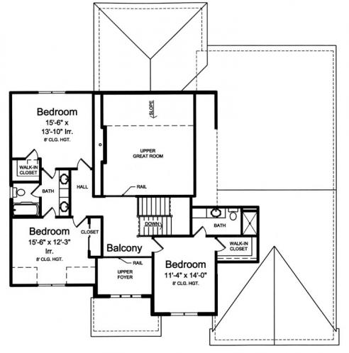 European House Plan - The Montpillier 24264 - 2nd Floor Plan