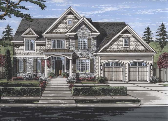 Traditional House Plan - The Montpillier 24264 - Front Exterior