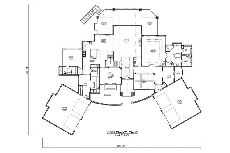 Craftsman House Plan - Westcot Manor 24320 - 1st Floor Plan