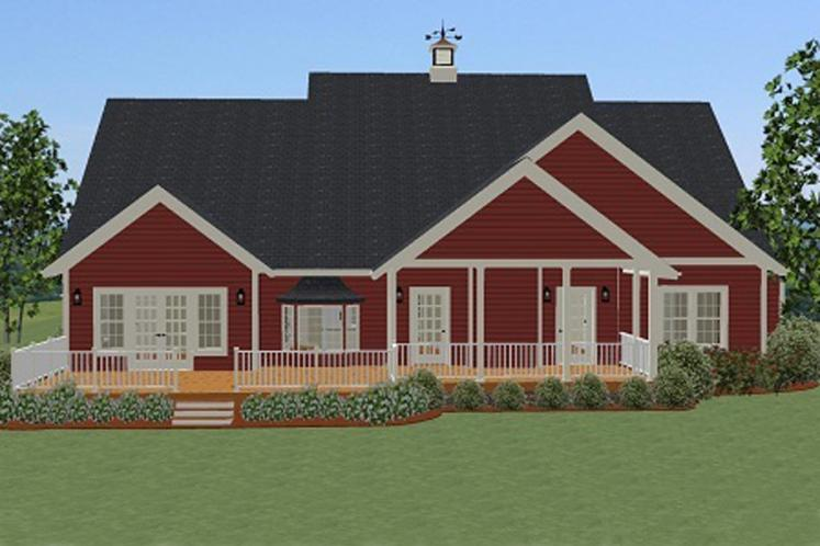 Country House Plan - Mapleview 24331 - Rear Exterior