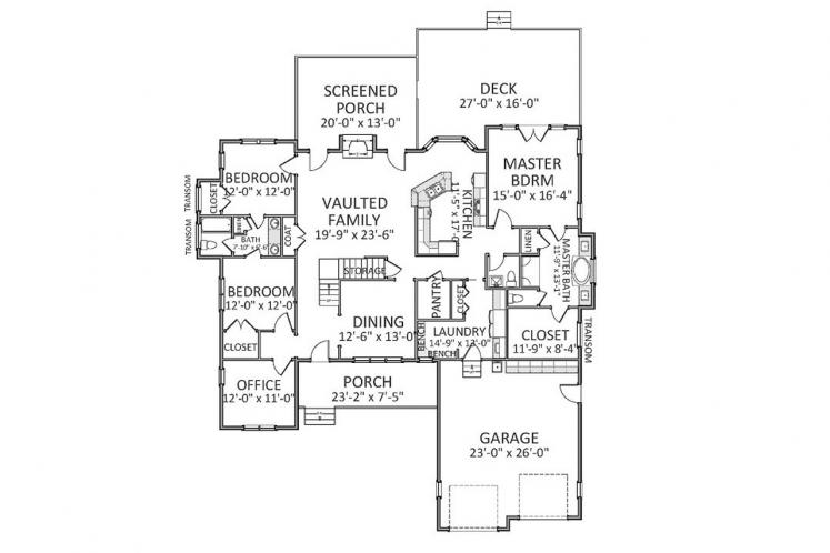 Farmhouse House Plan - Mapleview 24331 - 1st Floor Plan