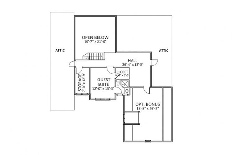 Country House Plan - Mapleview 24331 - 2nd Floor Plan