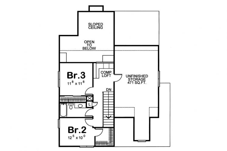 Traditional House Plan - Rivermonth 24527 - 2nd Floor Plan