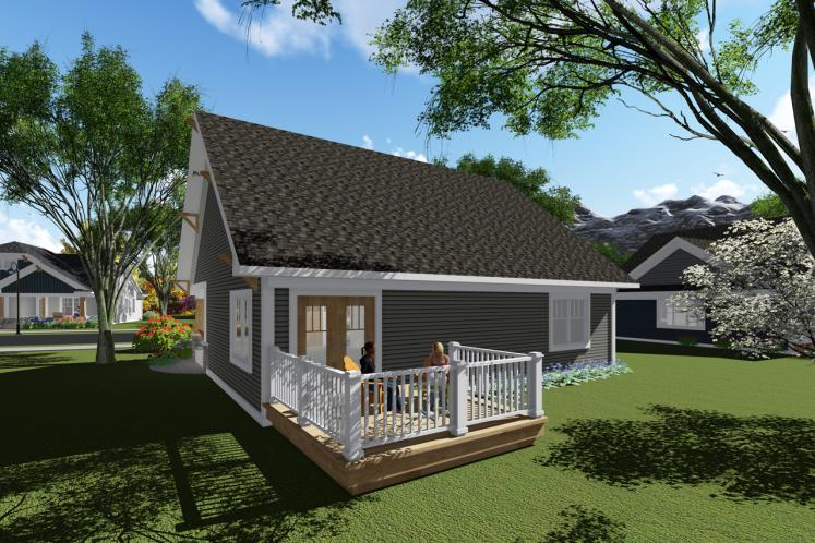 Craftsman House Plan -  24601 - Rear Exterior