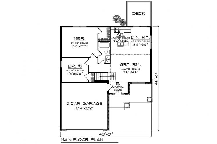 Ranch House Plan -  24601 - 1st Floor Plan
