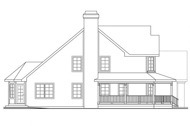 Traditional House Plan - Oakheart 24639 - Left Exterior