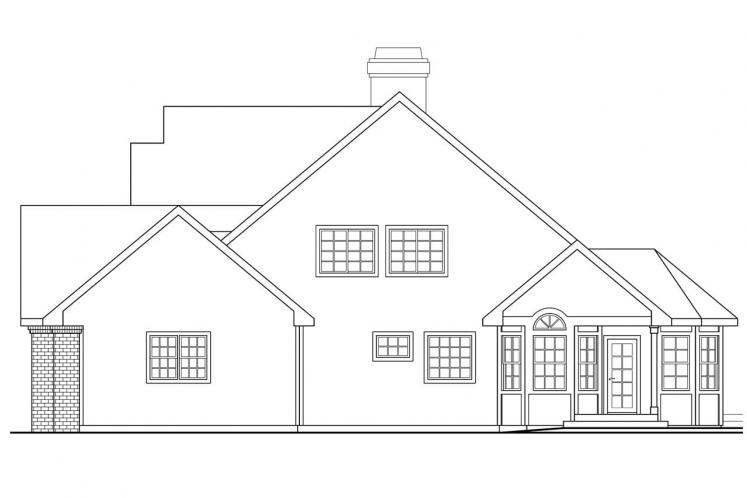 Country House Plan - Oakheart 24639 - Right Exterior