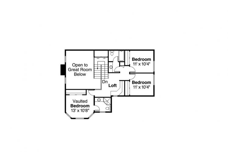 Traditional House Plan - Oakheart 24639 - 2nd Floor Plan