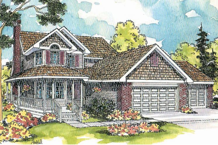 Country House Plan - Oakheart 24639 - Front Exterior