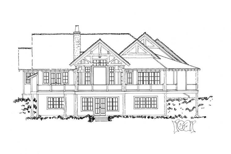 Lodge Style House Plan - Deer Park 24896 - Rear Exterior