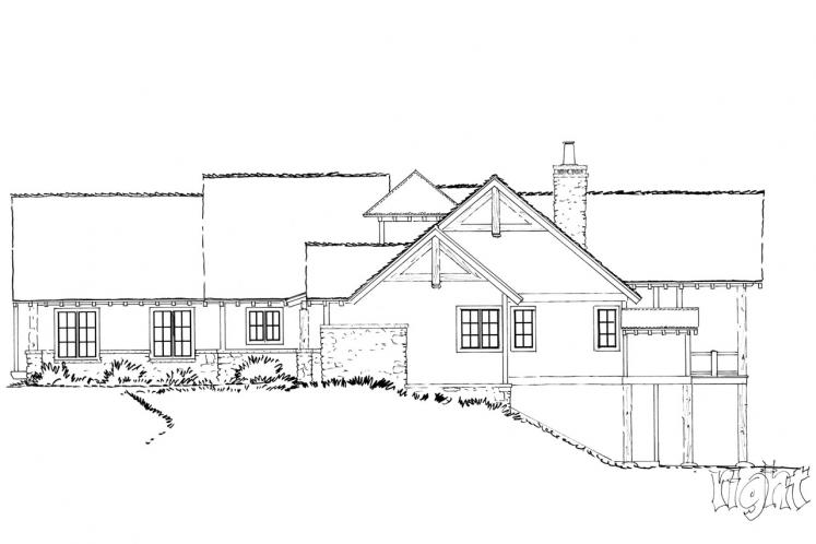 Country House Plan - Deer Park 24896 - Right Exterior