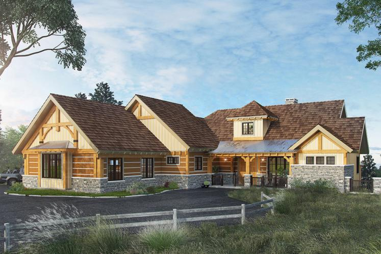 Country House Plan - Deer Park 24896 - Front Exterior