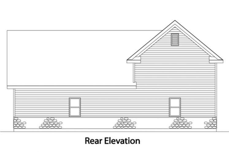 Traditional Garage Plan -  24927 - Rear Exterior