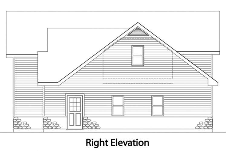 Traditional Garage Plan -  24927 - Right Exterior
