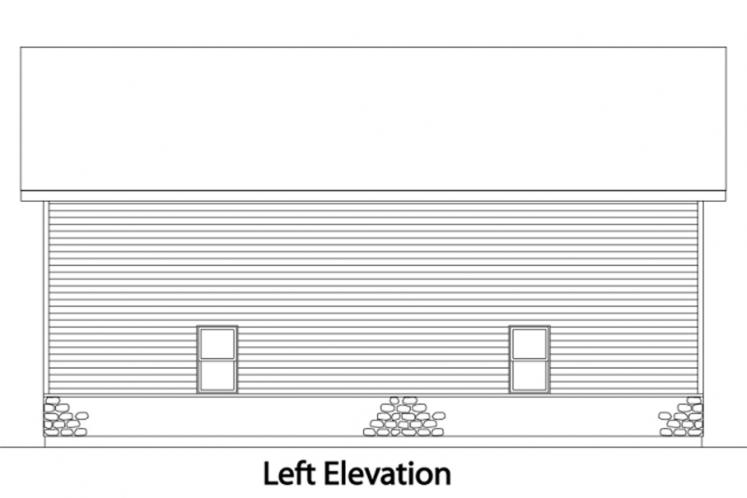 Country Garage Plan -  24927 - Left Exterior