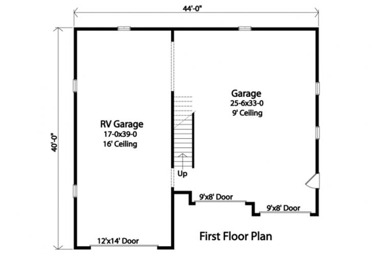 Country Garage Plan -  24927 - 1st Floor Plan