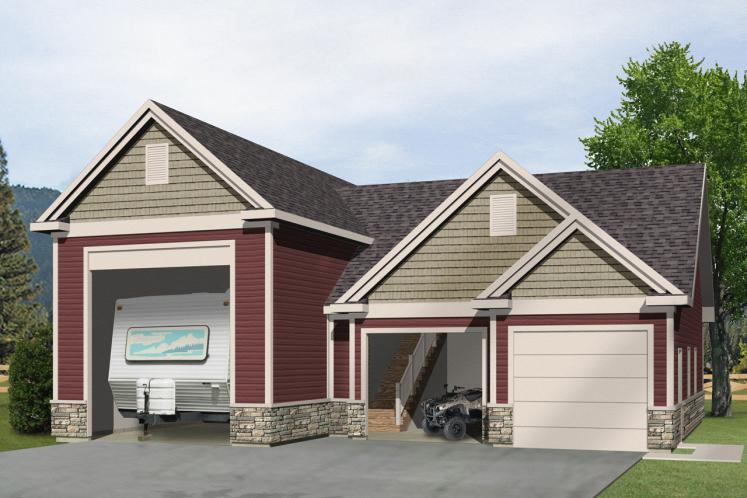 Country Garage Plan -  24927 - Front Exterior