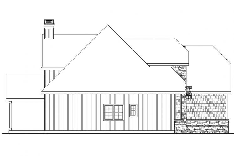 Tudor House Plan - Heartison 24998 - Left Exterior