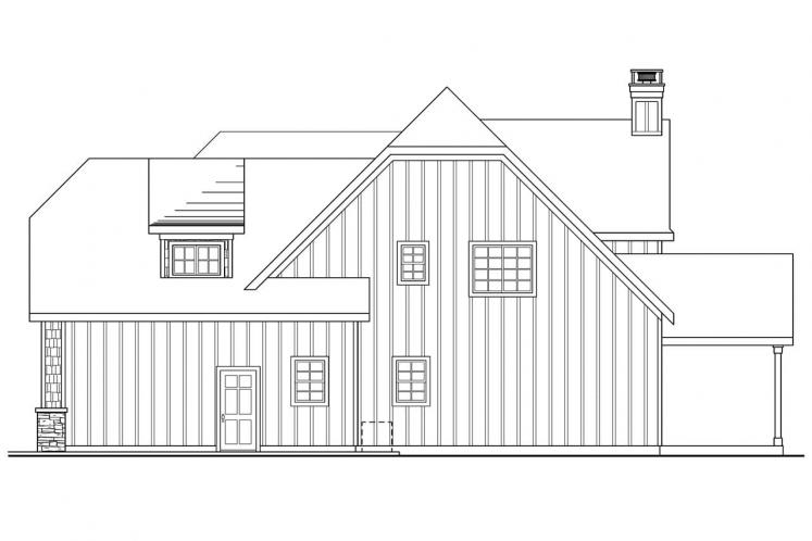 European House Plan - Heartison 24998 - Right Exterior