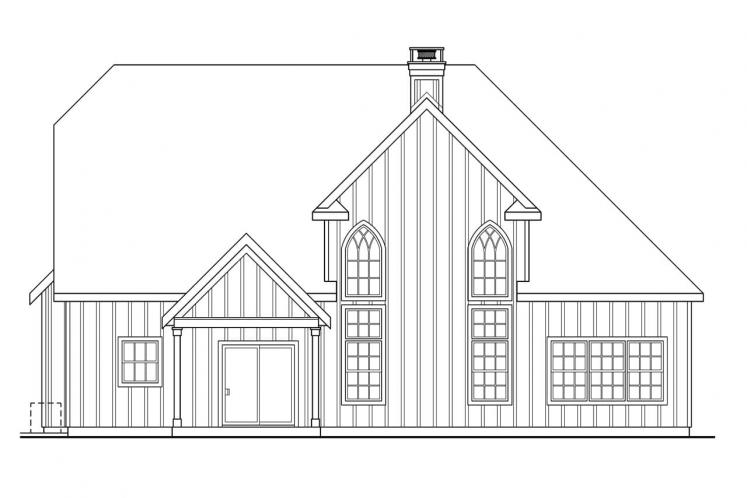 Southern House Plan - Heartison 24998 - Rear Exterior