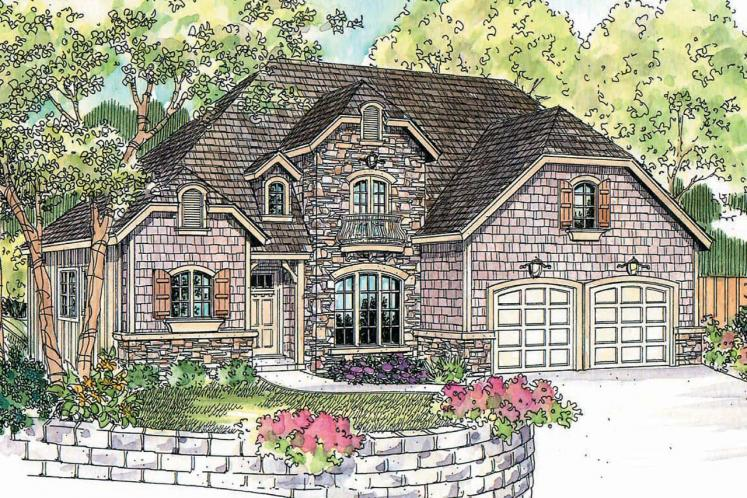 European House Plan - Heartison 24998 - Front Exterior