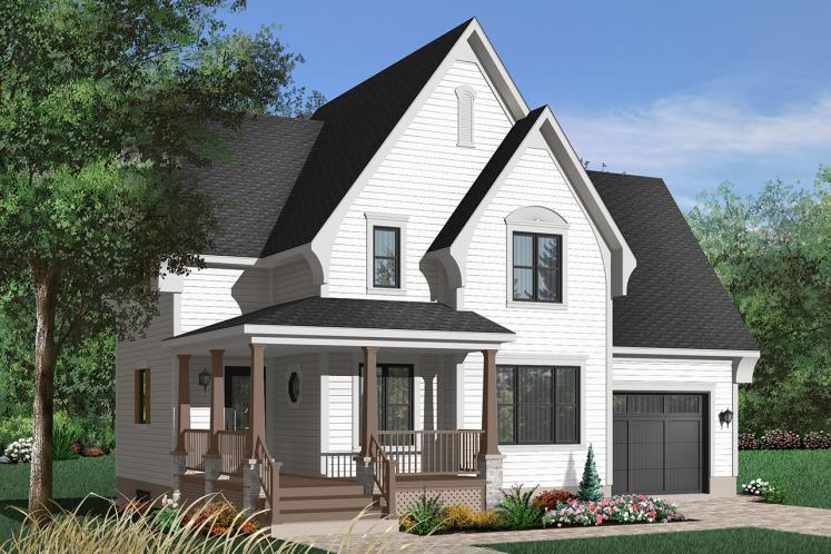 Country House Plan - Scott 25104 - Front Exterior