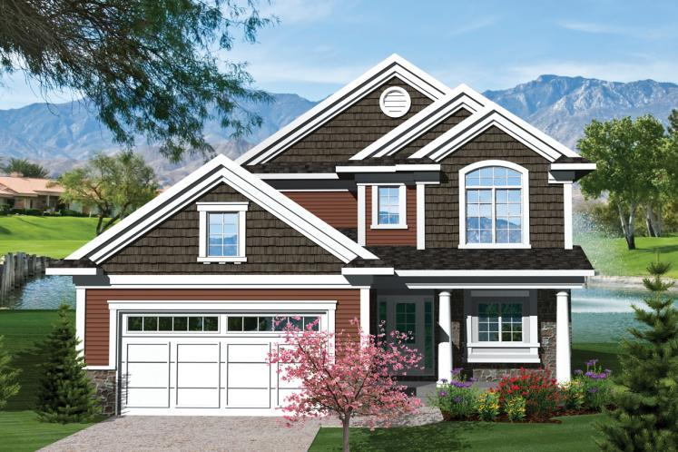 Traditional House Plan -  25163 - Front Exterior