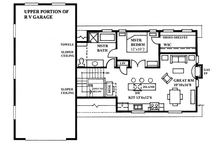 Craftsman Garage Plan -  25174 - 2nd Floor Plan