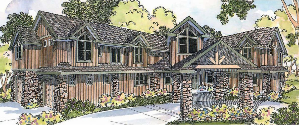 Lodge Style House Plan - Bentonville 25187 - Front Exterior