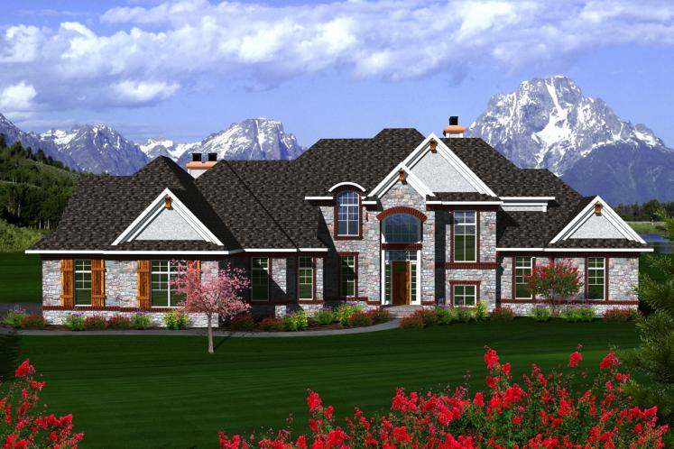 European House Plan -  25284 - Front Exterior