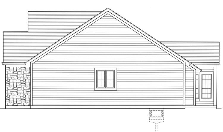 Country House Plan - Carlisle 25364 - Right Exterior