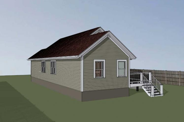 Cottage House Plan -  25427 - Right Exterior