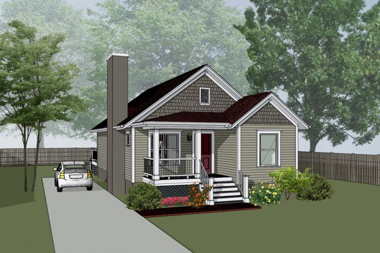 Country House Plan -  25427 - Front Exterior