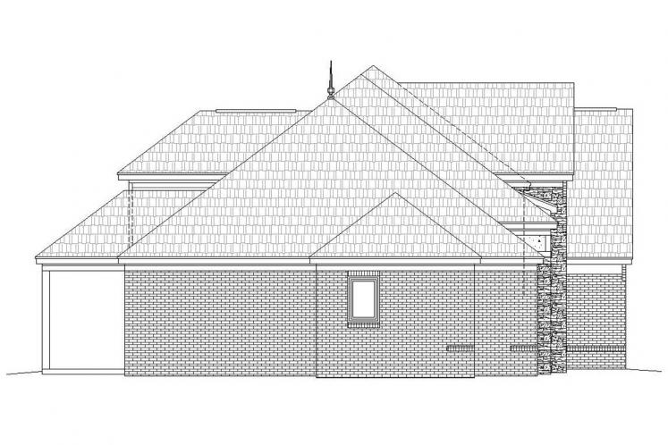 Southern House Plan -  25577 - Left Exterior