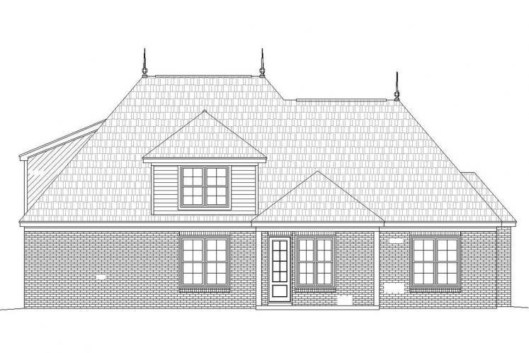 Classic House Plan -  25577 - Rear Exterior