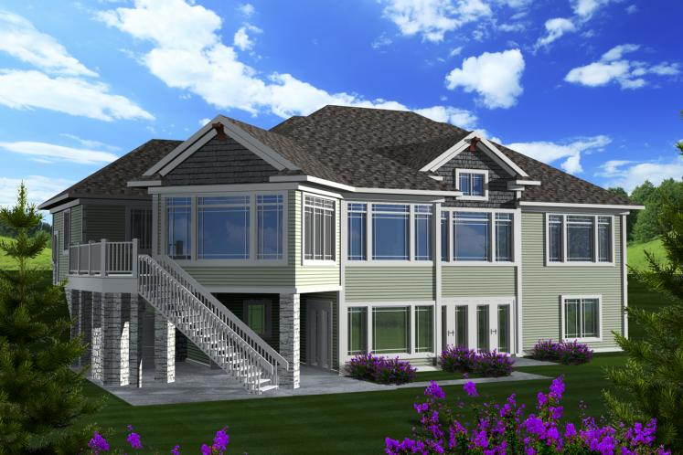 Classic House Plan -  25675 - Rear Exterior
