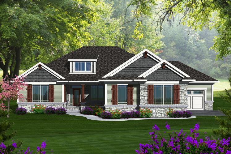 Craftsman House Plan -  25675 - Front Exterior