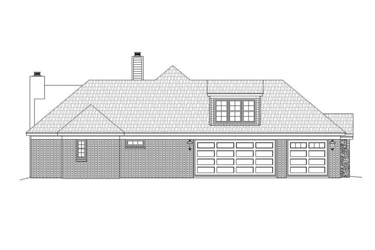 Ranch House Plan -  25696 - Left Exterior