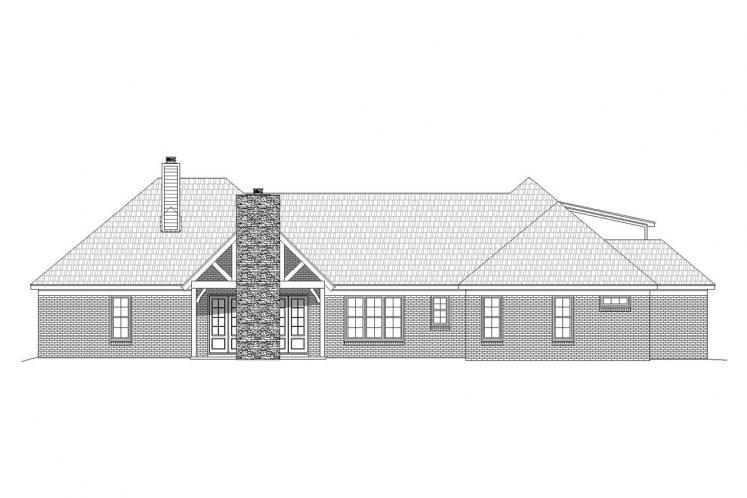 Classic House Plan -  25696 - Rear Exterior