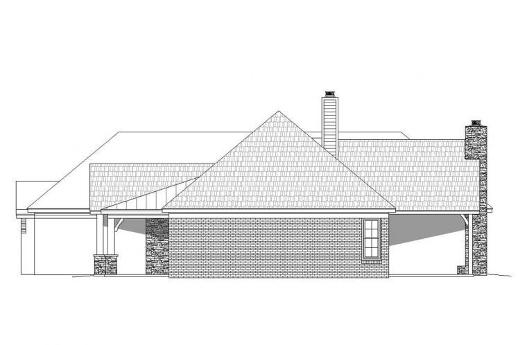 Craftsman House Plan -  25696 - Right Exterior