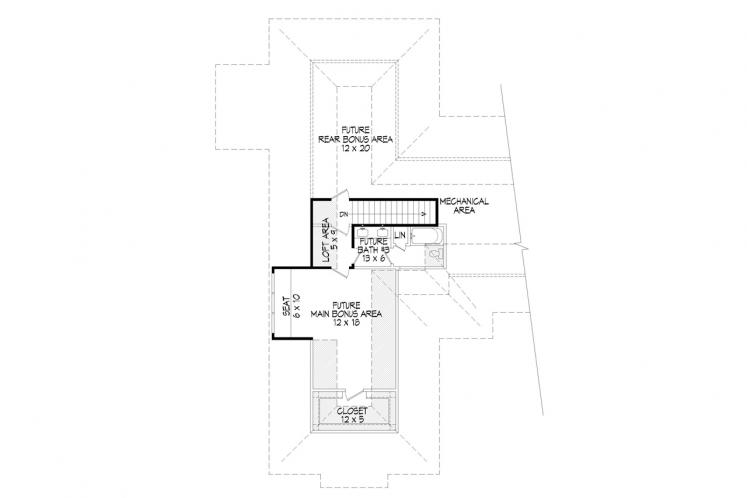 Ranch House Plan -  25696 - 2nd Floor Plan