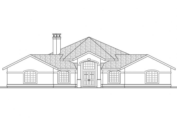 Ranch House Plan - Santa Ana 25768 - Front Exterior