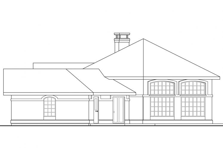 Spanish House Plan - Santa Ana 25768 - Right Exterior