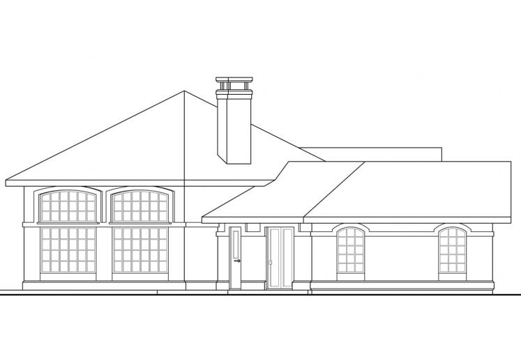 Southwest House Plan - Santa Ana 25768 - Left Exterior