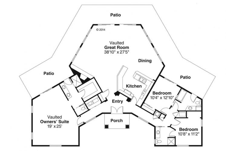 Ranch House Plan - Santa Ana 25768 - 1st Floor Plan