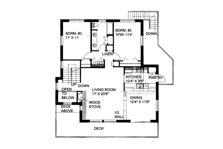Modern House Plan -  25852 - 1st Floor Plan