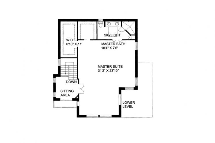 Contemporary House Plan -  25852 - 2nd Floor Plan