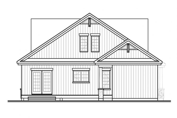 Country House Plan - Cambridge 25950 - Rear Exterior