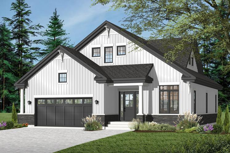 Craftsman House Plan - Cambridge 25950 - Front Exterior